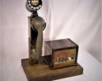 Beautiful Old Space Saver Telephone And Switchboard  GREAT GIFT!