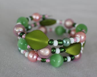 Princess and the Pea- Coil Bracelet