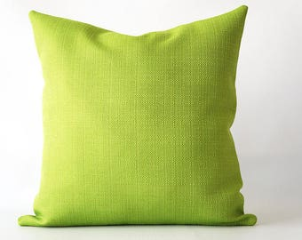 18x18Green Linen Textured Pillow Cover, throw pillow cover, green pillow cover, green decorative pillow, decorative pillow cover green linen