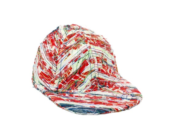 baseball cap upcycled - geometric