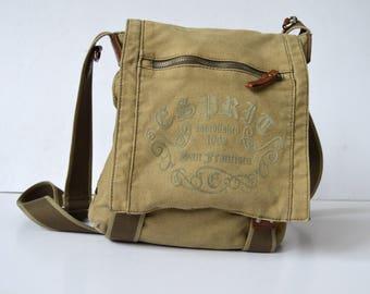 Vintage Canvas Bag Military Shoulder Bag Messenger Bag Travel Bag Crossbody Bag Satchel bag Festival bag