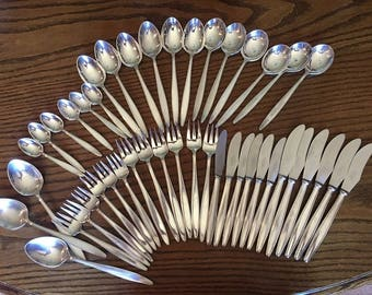 Elkington Plate Silverware 45pcs 1957-1958