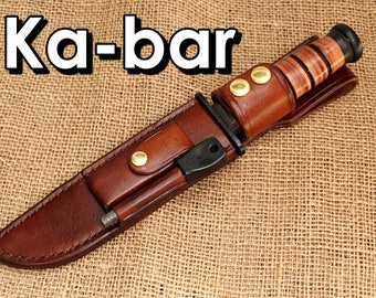 Ka-bar Leather sheath DC3 stone