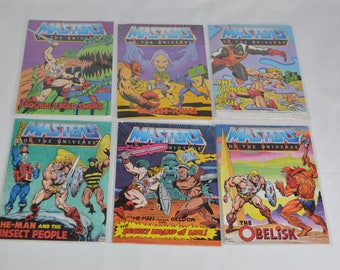 Masters of the Universe lot of 6 different mini comics MOTU Mattel 80's