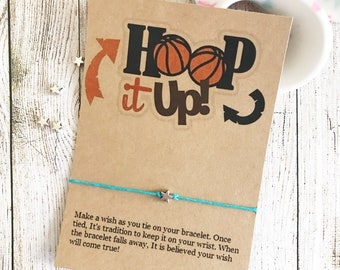 Basketball Team Gift, Basketball Team, Baketball Party Favors, Wish Bracelet, Girls Basketball, Girls Basketball Gift, Basketball Player