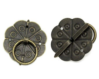 1 handle round cardboard with bronze Brad
