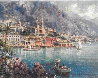 Monte Carlo, Vue de Casino,  Raphael Tuck Et Fils, Antique Circa 1910, Unused Postcard  #112.
