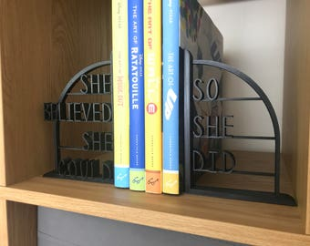 Scoring Wilder themed 3D Printed Book End (Motivational Quote) R.S Grey