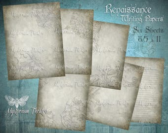 Classical Renaissance Digital Journal Stationary Papers