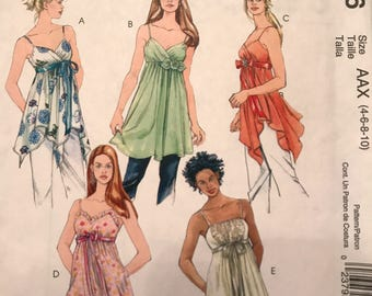 Very Nice Pattern for Baby Doll Tops---McCalls 4836---Sizes 4-6-8-10  UNCUT