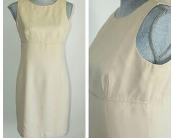 Silk Summer Dress by Ann Taylor Size 6 Petite  Sleeveless Simple Woven Silk