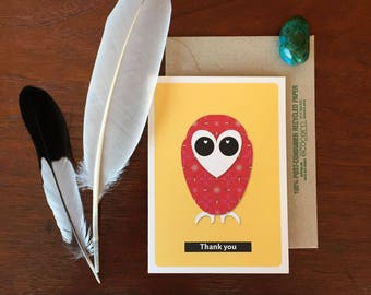 Thank you | Quirky Graphics Greeting Card