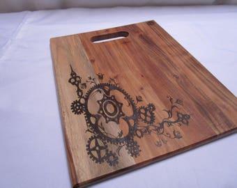 Steampunk theme cheese board /chopping board