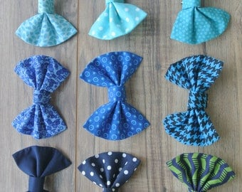 Blue Baby Bow ties- clip on, newborn bow ties, clip on bow ties, Infant Bow tie, Boys bow tie, Baby Boy bow tie, clip on bow