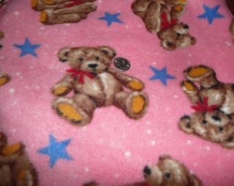 3/4 Yard x 60 Inch Teddy Bear Fleece fabric Remnant