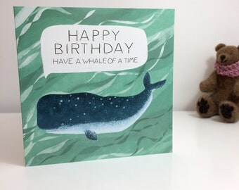 Happy Whale Birthday Card