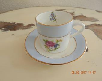 Queen's Rosina Demitasse Matching Cup & Saucer Set