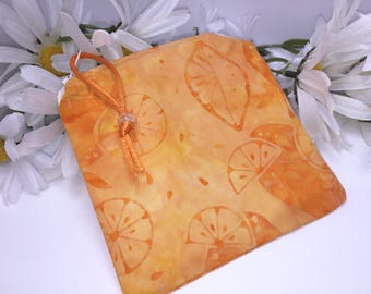 Peach Reusable Bag, Water Resistant Pouch, Quick Dry Design Wetbag, Wet Pouch, Reusable Feminine Products, Pacifier Pouch, PUL Lining