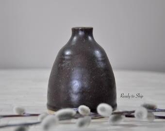 Pottery, Pottery Bud Vase, Flower Vase, Vase, Wheel Thrown Pottery, Pottery Flower Vase, Handmade Pottery, Pottery Handmade, Gift, Home