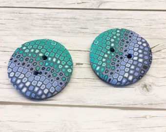 """3 Buttons Polymer Clay """"Strom"""" handmade"""