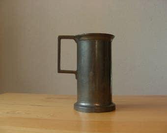 Vintage pewter mug, double deciliter, R.G. Mark