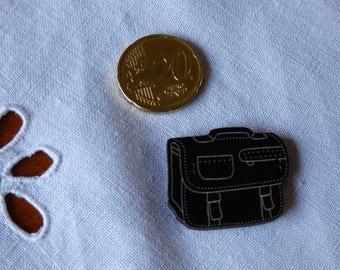 Wooden Briefcase black collar button