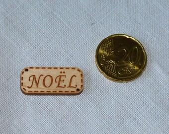 Christmas collar wooden wood button