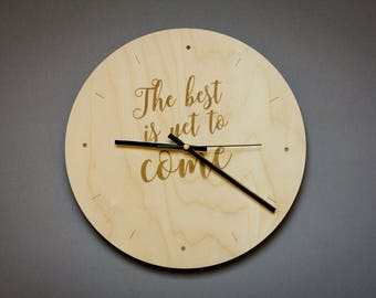 The best is yet to come clock / Inspirational wall art wood / Best to come decor / Inspirational quote / Office gift / Inspirational Gift