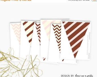 20% OFF Woodland Pennant Flag , Woodland Baby Shower , Girl Baby Shower , Woodland Birthday Party , Printable ,  Instant Download