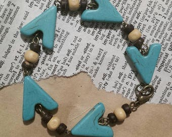Howlite Chevron Bracelet