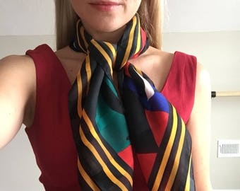 Vintage 90's Colorful Scarf