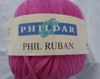 PHILDAR PHIL RIBBON FUSCHIA WOOL YARN