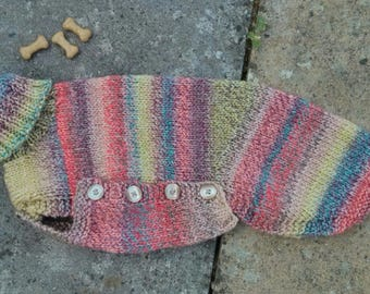 Pretty pinks, natural and lime mix whippet jumper - Ready to post