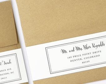 Wrap Around Labels - Printable Address Labels - Wedding Templates - Wedding Envelopes - Printable Wraparound Labels - Wedding Template