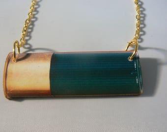 large lasercut bullet necklace punk emo goth statement