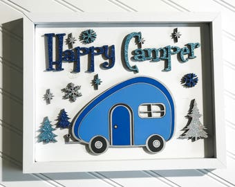 Happy Camper Framed Sign