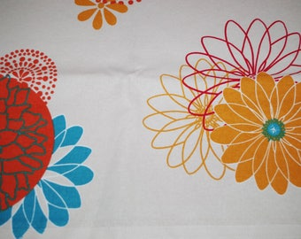 Decorative large flowers cotton fabric