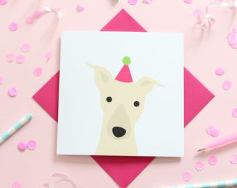 Birthday Whippet Card