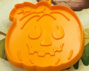 1980's Hallmark Orange Jack-O-Lantern Pumpkin Plastic Cookie Cutter