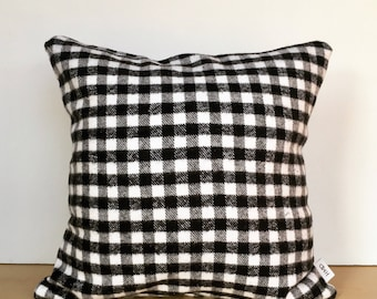 Flannel pillow, buffalo check pillow, throw pillow, custom pillow, housewarming gift, fall pillow, fall decor, halloween pillow