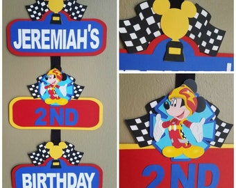 Mickey Roadster Racers Welcome Sign, Mickey Roadster Racers Door Sign, Roadster Racers Door Sign, Roadster Racers Welcome Sign