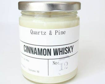 Cinnamon Whisky | Cinnamon Whisky scented | Soy Candle | Hand Poured