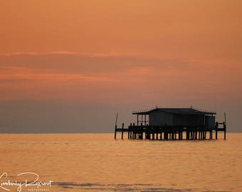 Historic Stilt House Sunset