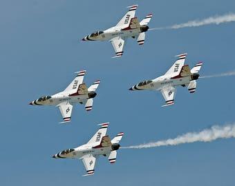 Thunderbirds in Formation Wall Art