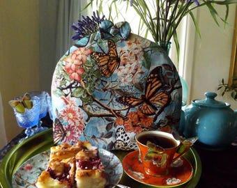 Tea cosy with butterflies