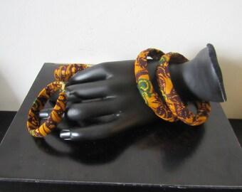 Set in wax Bracelet and earrings ethnic jewelry
