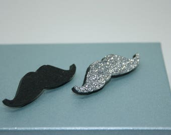 Moustache Badge Pin, Moustache Jewellery, Moustaches, Bag Pins, Moustache Brooch, Geekery, Geeky Jewellery, Movember