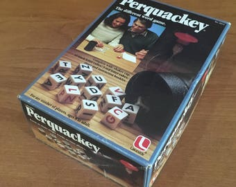 """Perquackery Dice Game """"The Different Word Game"""" Vintage 1982 Lakeside Industries Inc. Complete Game Excellent Condition with Instructions"""