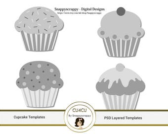 Cupcake Photoshop Layered Templates
