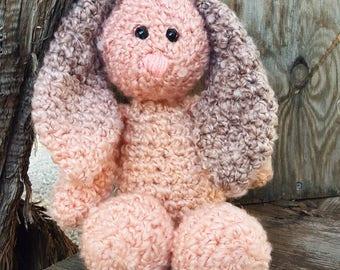 Flo the Floppy Bunny, Bunny Stuffed Animal, Bunny Plush, Rabbit Stuffed Animal, Rabbit Plush, Crocheted Stuffed Bunny, Crochet Bunny, Stuffy